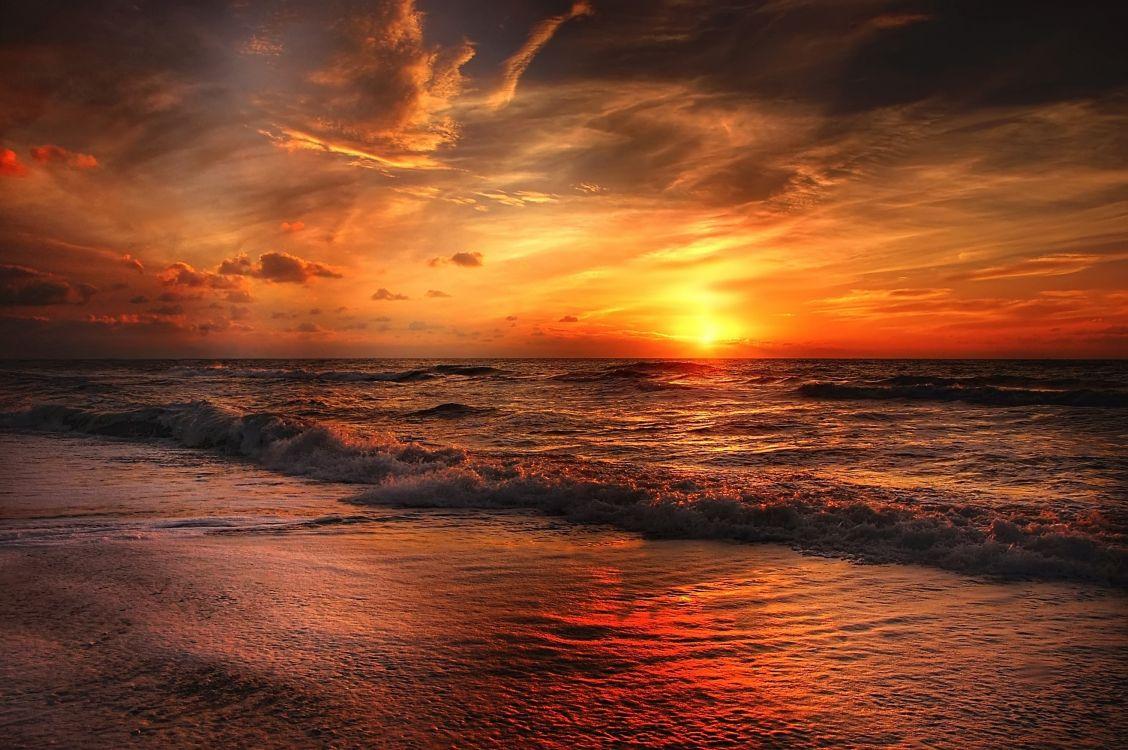 Картинки на рабочий стол закаты море