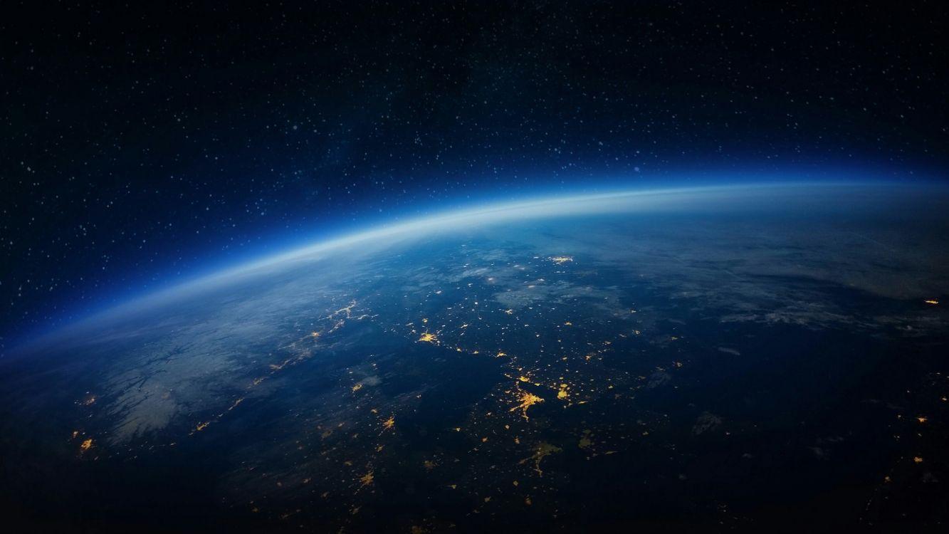 Обои земля, ночь, пространство, Вселенная, космос в разрешении 3840x2160