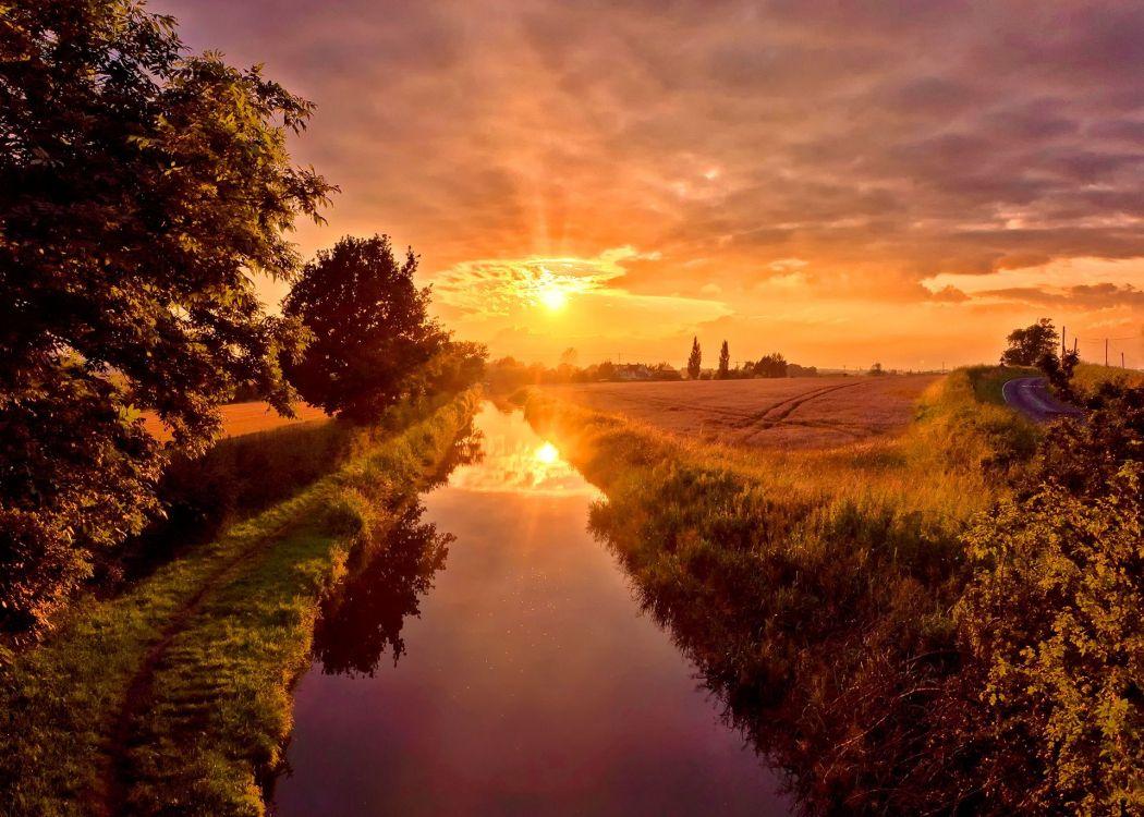 солнце берег реки картинки фото представляют