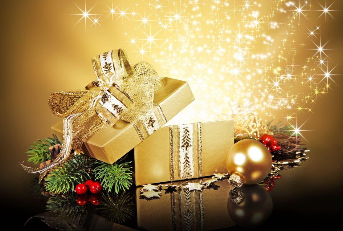 Обои подарок, Рождественские огни, событие, котировка, свадебные приглашения в разрешении 3072x2070