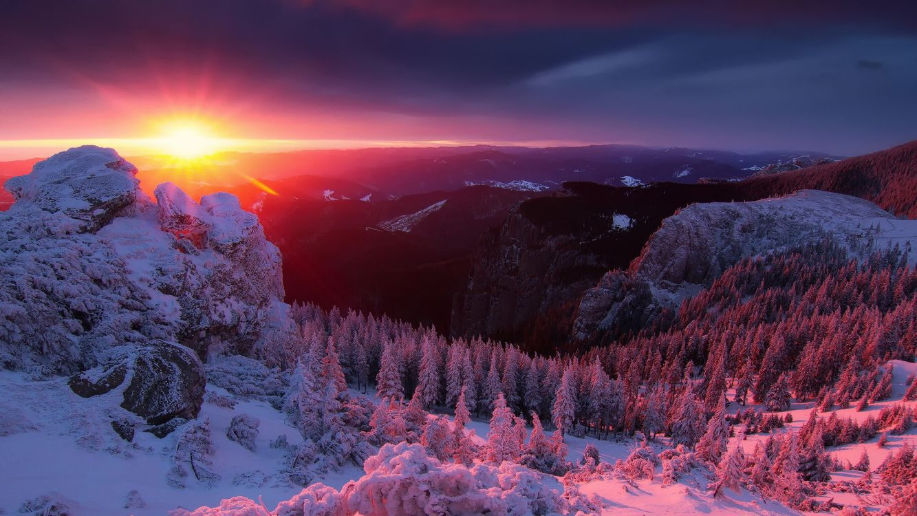Обои закат, небо, природа, рассвет, дикая местность в разрешении 3840x2160